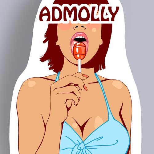 Add company sexy sticker design