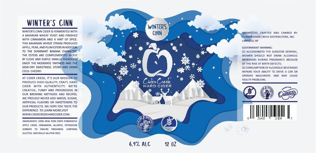 Hard Cider Company Needs New 'Winter's Cinn' Label 12 oz can
