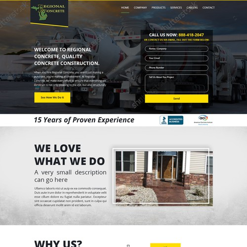 Website for a construction company