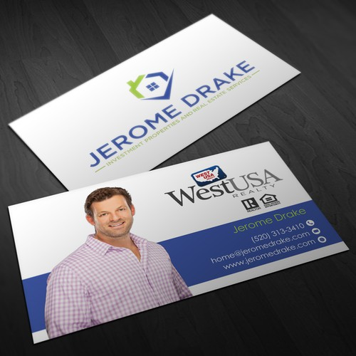 Business Card For Jerome Drake