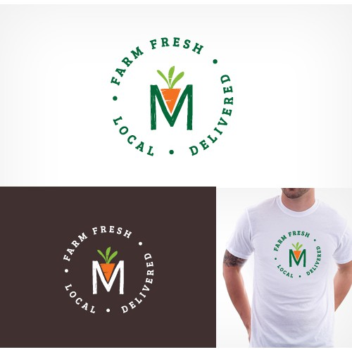 Creating a merchandise logo for a farm fresh/local delivery service.