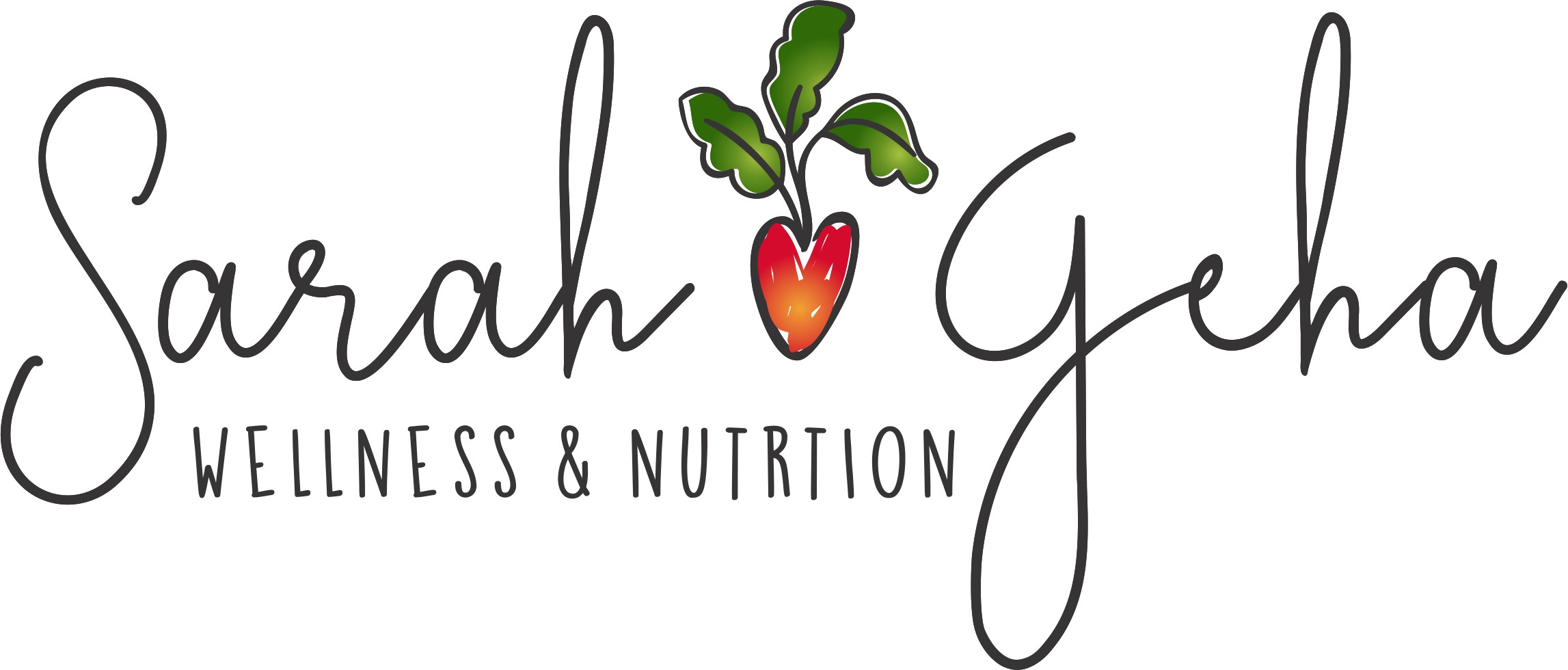 Natural organic professional logo for nutrition coaching