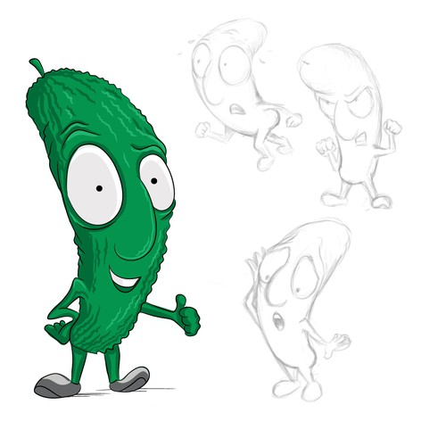 Fun Pickle Mascot