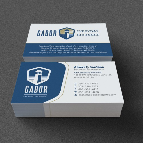 Business card for Gabor