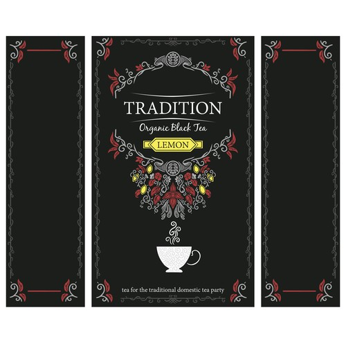 Decorative packaging design for tea company