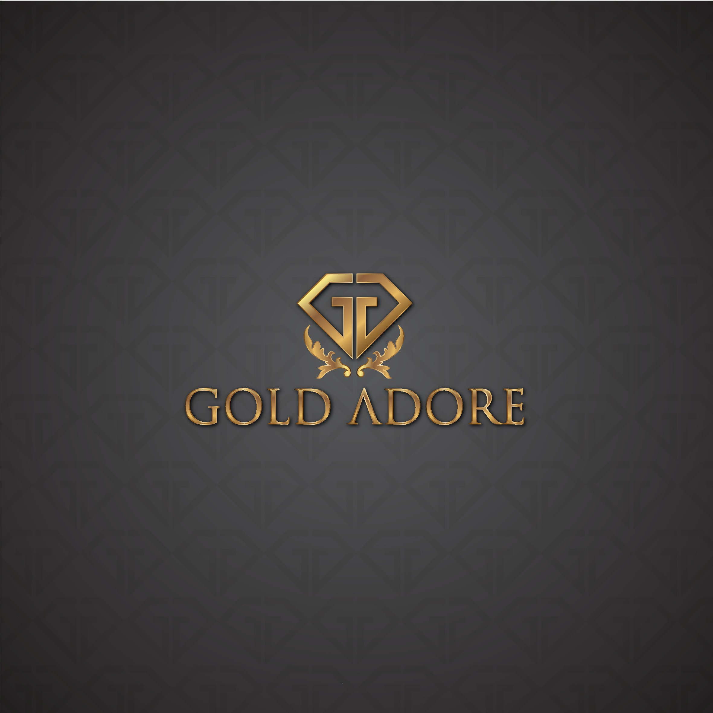 Gold tinted logo for an online vintage jewelry store.