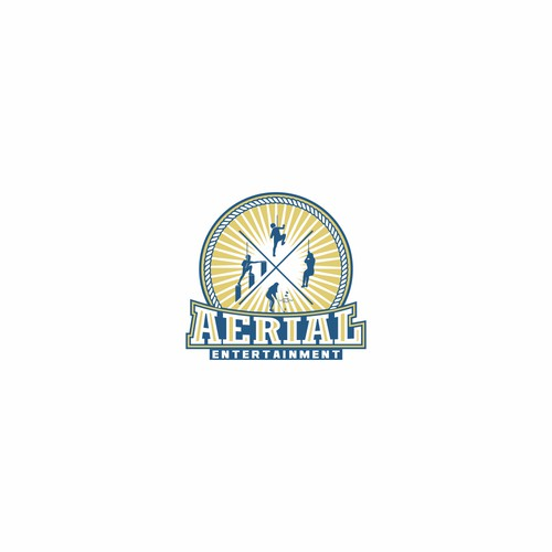Retro logo concept for Aerial Entertainment