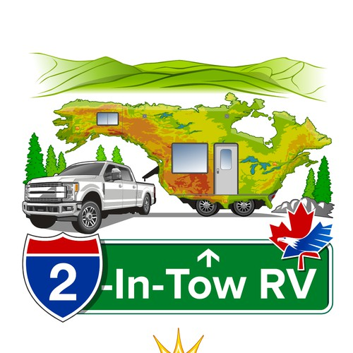 Camper-Truck Logo of 2 Countries