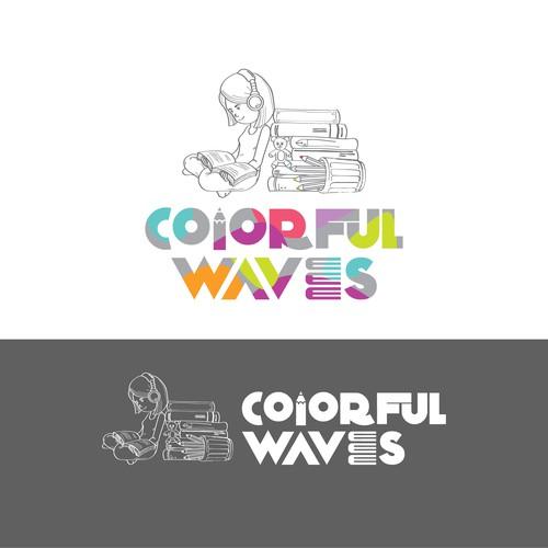 Colorful waves concept design