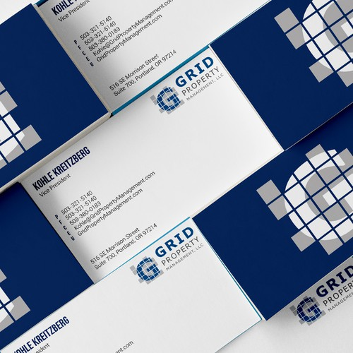 Business Card design for a property management firm.