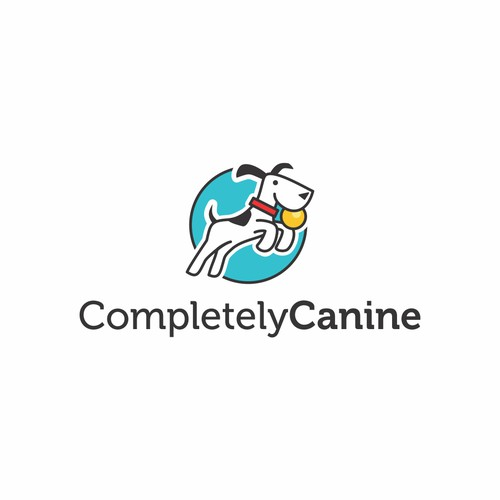Logo for dog training company