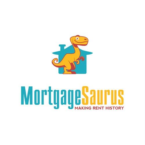 MortgageSaurus logo design