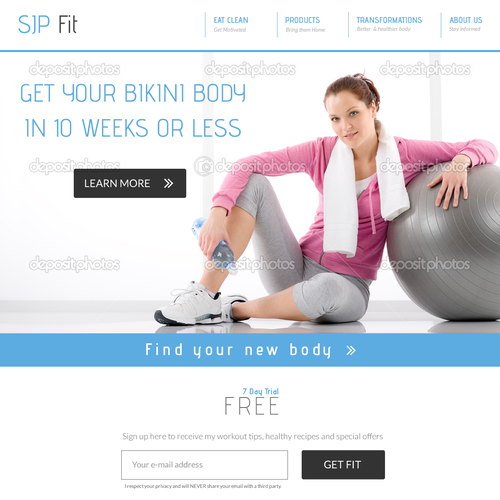 Web page design for SJP Fit