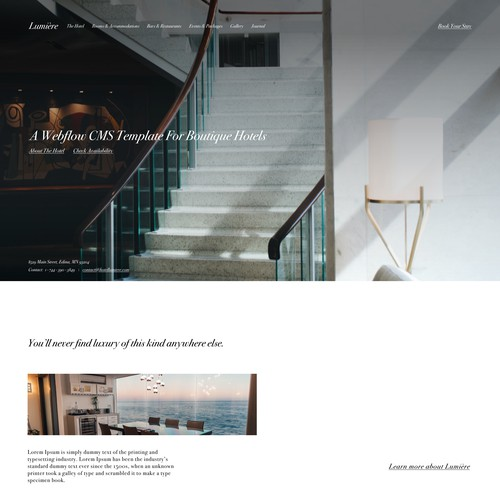 Lumiere – A Hotel Template