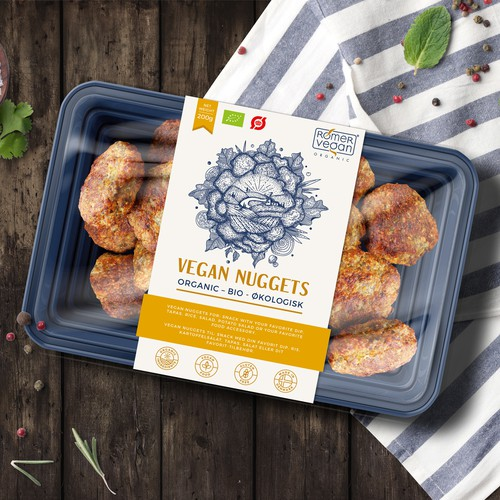 Label design for Vegan Nuggets