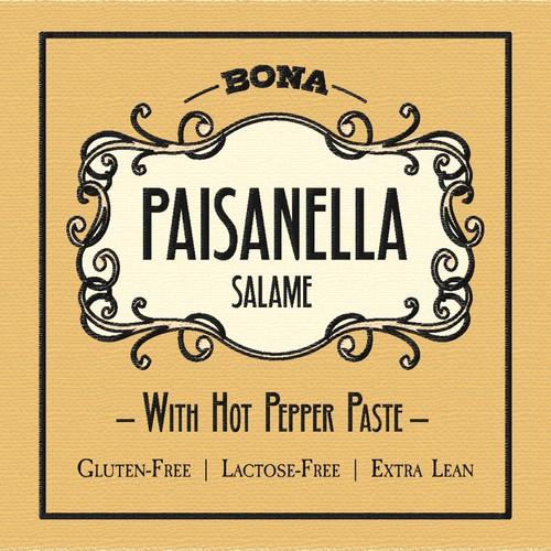 Bona Paisanella Label