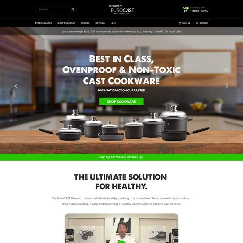 Homepage Design for EuroCAST