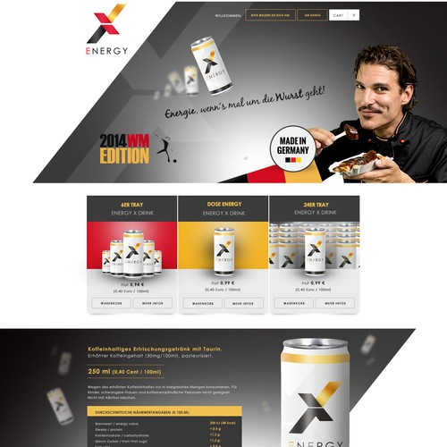 energy landing page