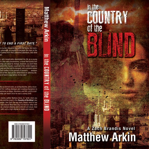 NYC Suspense Thriller Book Cover for Hawkshaw Books