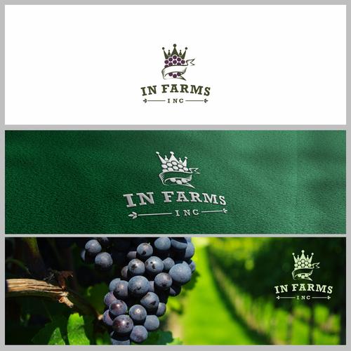 classic logo for vineyard