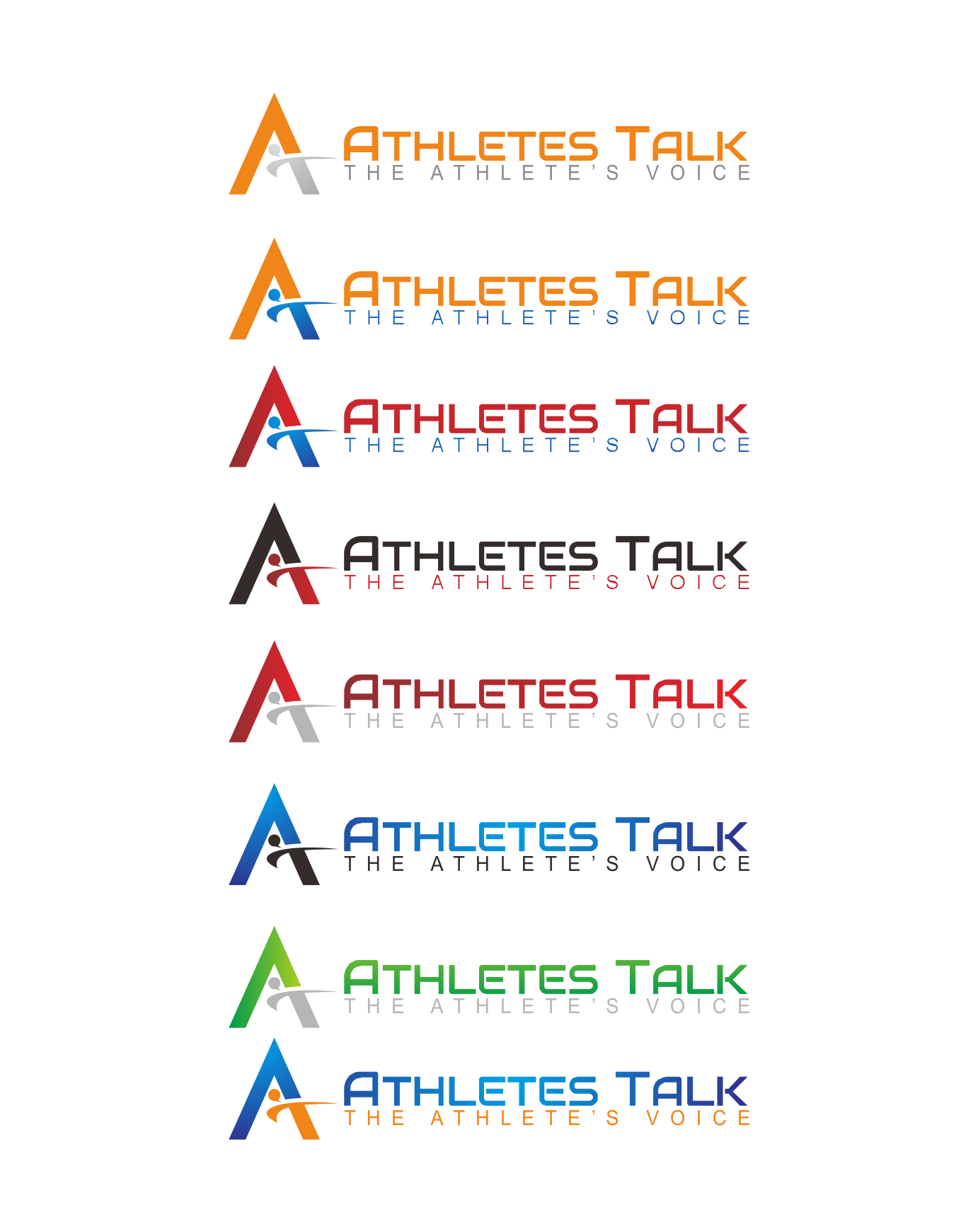 logo for Athletes Talk