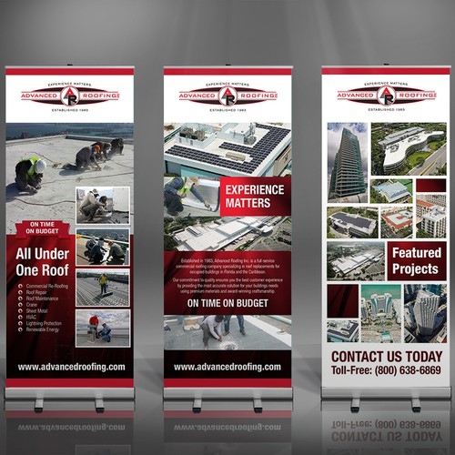Florida's LARGEST ROOFING Company Needs Awesome Roll-Up Banners