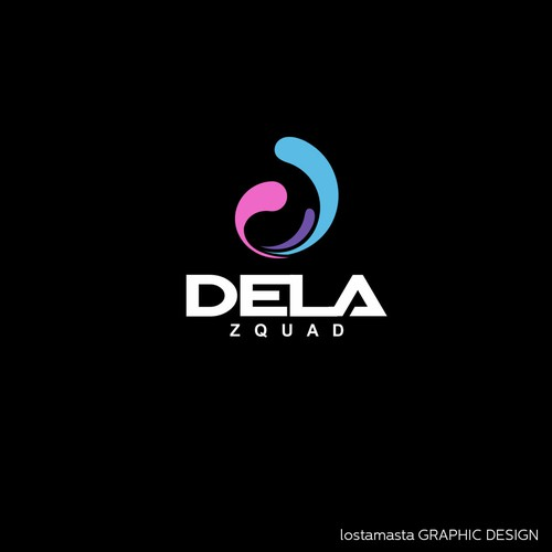 Bold simple logo for Dela Squad