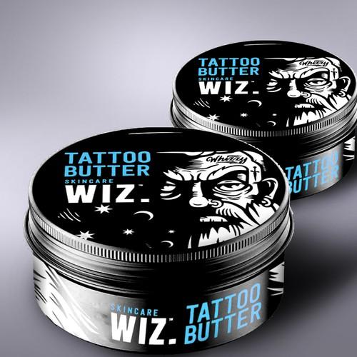 Tatoo butter packaging design