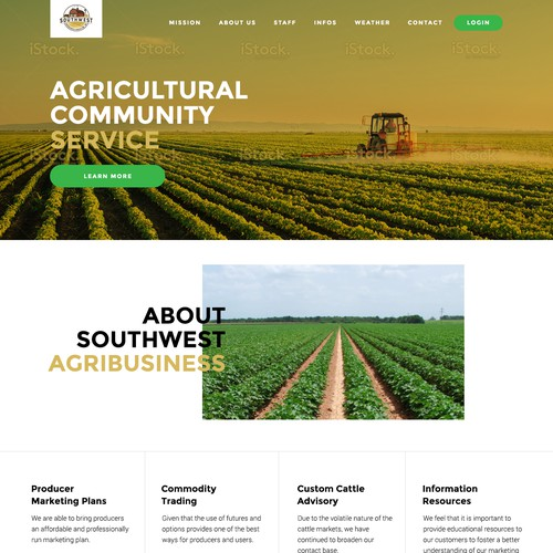 Homepage for Agricultural Business