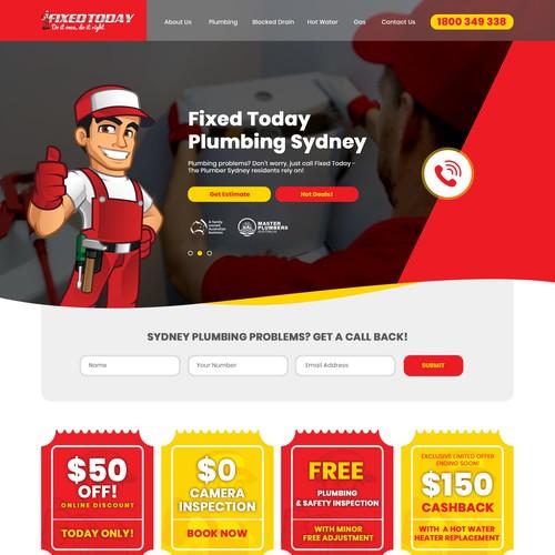 Plumbing Service Website Design