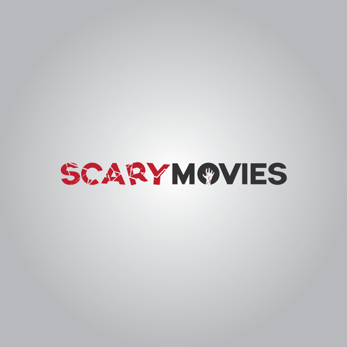 "Scary logo for ""scary movies"" magazine about horror movies."