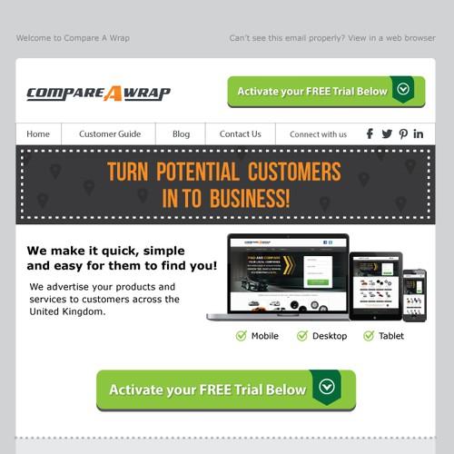 Email design - Automotive Services Website