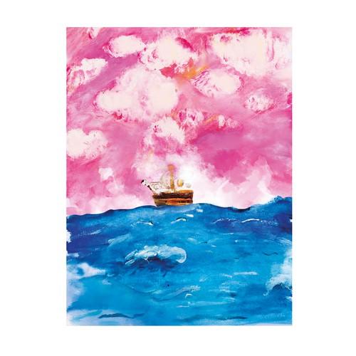 Ocean watercolor canvas