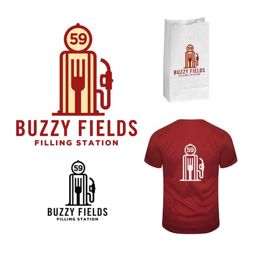 Buzzy Fields Filling Station Logo