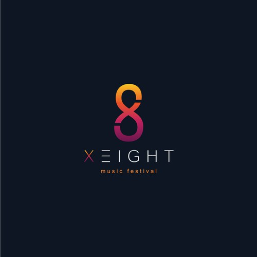 X-Eight logo for Club Music Festival Logo