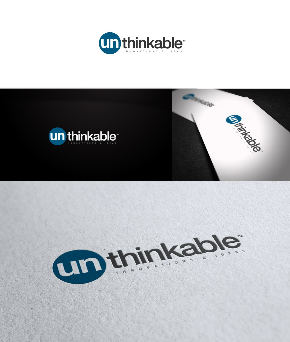 Help un - thinkable INNOVATIONS & IDEAS with a new logo