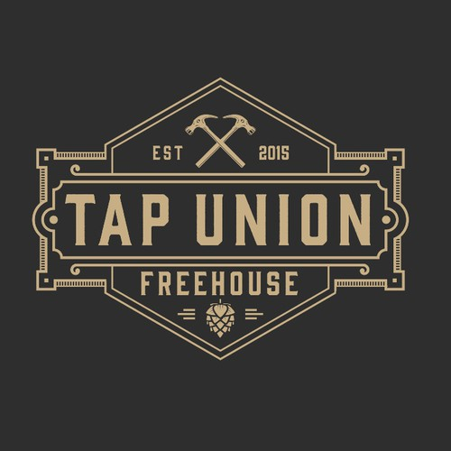 Unique logo for a 30's style beer bar with artdeco style