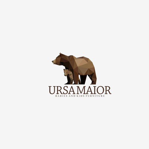 geometric triangulation logo concept for ursa maior