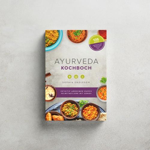 Ayurveda Cookbook Cover Design