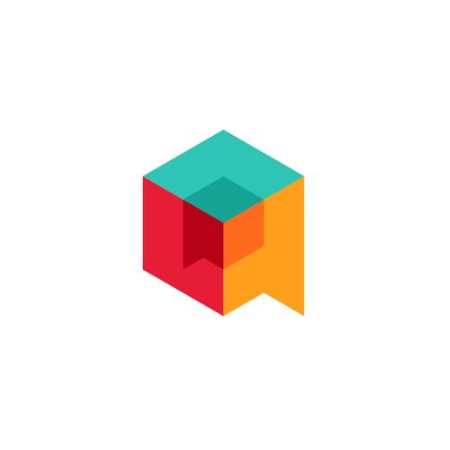 Logo concept for blockchin forums