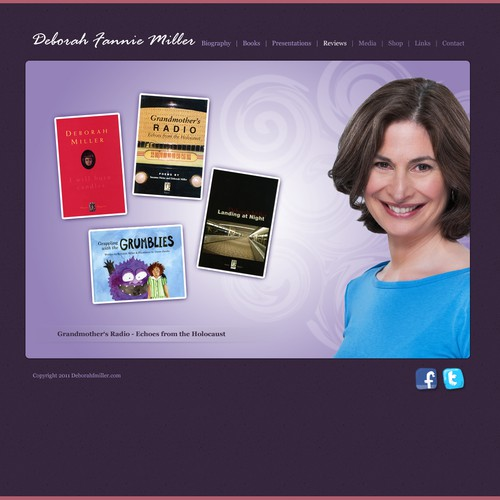 New website design wanted for Deborah Fannie Miller - Author & Poet