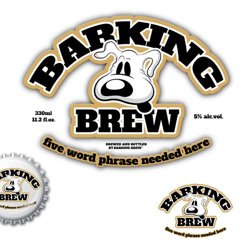 product label for Barking Brew