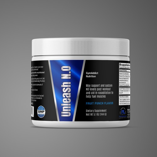 modern bold Supplement label design