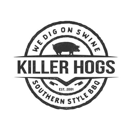 T-shirt Design For Killer Hogs BBQ