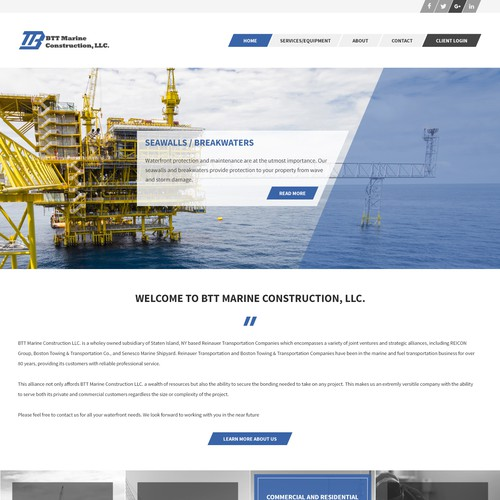 Another Concept for BTT Marine Construction Homepage
