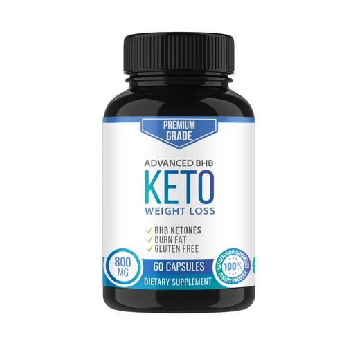 Keto Supplement Label Design