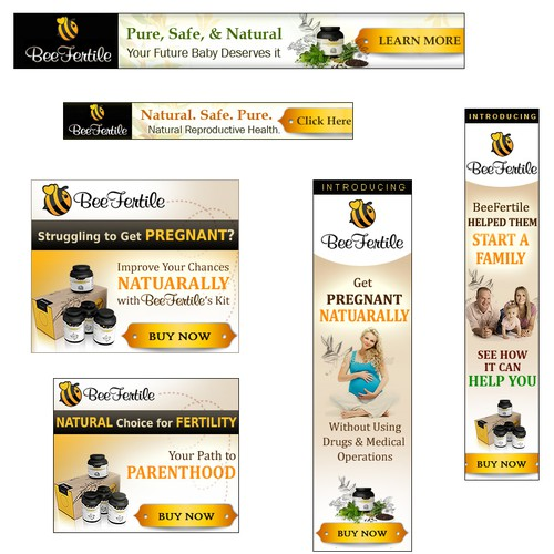 Design Banner Ads for Natural Health Company