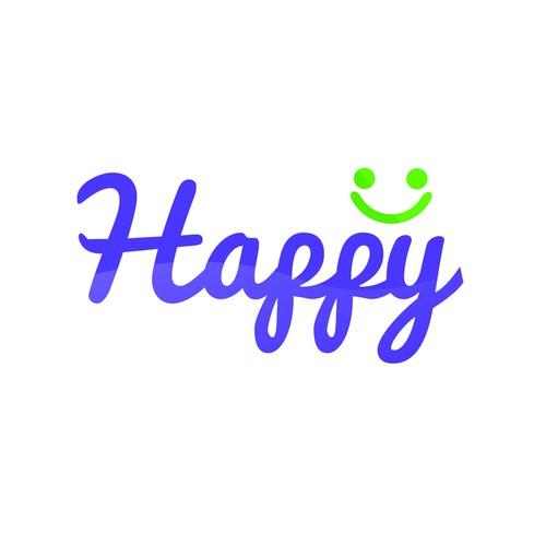 fresh and fun logo for http://myhappy.guru
