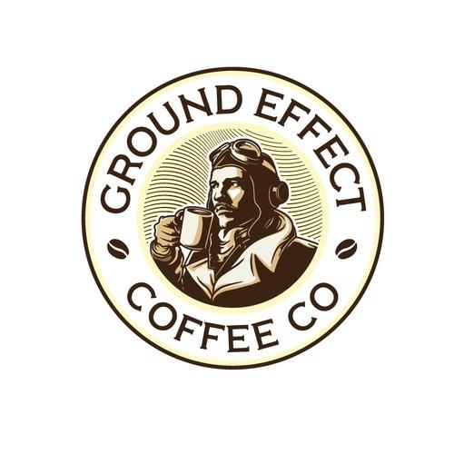 ground effect coffee logo design
