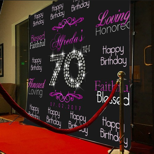 Backdrop Design for Birthday Party